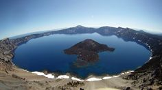 Gorgeous place to fly but beware of the rangers - they will ask you to stop so not to disturb the otherwise glorious silence! Crater Lake Oregon, Oregon Usa, Us National Parks, Aerial View, Google Images, Ranger, The Good Place, Earth, Landscape