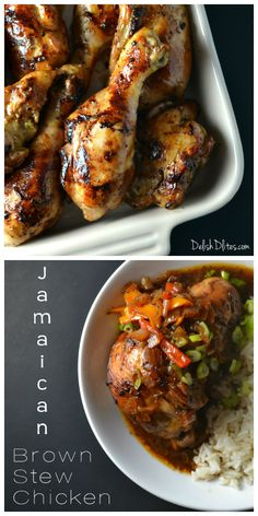 Jamaican Brown Stew Chicken - I really liked it (and it was delicious the 2nd day kind of as a soup).