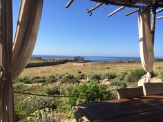 having breakfast looking at the sea.. Residenza A Cova_Carloforte San Pietro Island