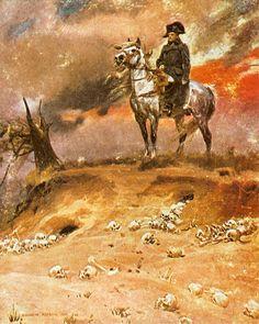 Wojciech Kossak. Wizja Napoleona  1910. Olej na płótnie.  Własność prywatna.
