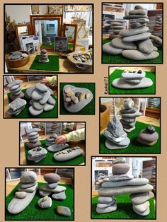 "Building stone cairns from Rachel ("",)"