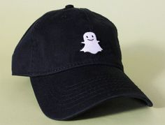 WELCOME TO BRAIN DAZED!  GHOST Dad Baseball Hat Cap  - BRAND NEW - Pink, White, Black Color - UNISEX - 100% Cotton WASHED twill - Super soft & vintage feel - Embroidered: GHOST - Strong Adjustable Brass Buckle in back of hat. One Size Fits All - EMBROIDERED IN Los Angeles, CA U.S.A  Dad hat Low Profile Handmade  ********* VERY NICE QUALITY CONSTRUCTION *********   !!!!! Please note all designs are created, designed & copyrighted by BRAIN DAZED.
