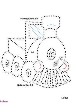 Train Tin Punch Pattern