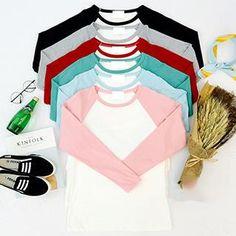 Long-Sleeve Color-Block T-Shirt