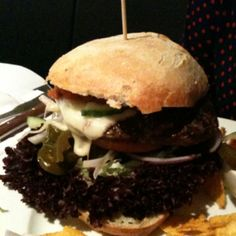 2012: Enjoyed a burger in Aalborg, Denmark, today.
