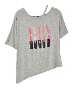 Irregular Batwing Sleeves T-shirt