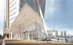 Galeria de V8 Architects é selecionado para o projeto de ampliação da KPN Tower de Renzo Piano - 3