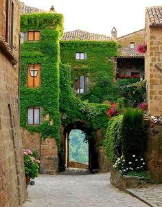 Civita di Bagnoregio. Bagnoregio, Viterbo, province of Viterbo , Lazio region litany