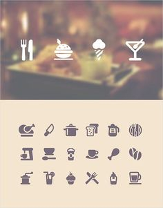A couple of various icons based on food and drinks.