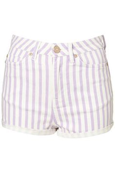 anyone wanna buy a pair of these MOTO striped highwasited hotpants from topshop for a photoshoot idea I have...i need 3 models. i want the lilac, the ice, and the pink for the shoot. okaybyethanx