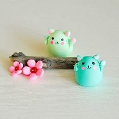 Cute Polymer Clay Cats!