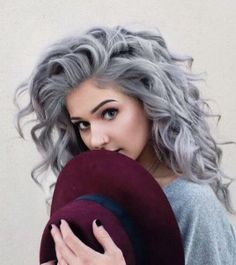 To have grey hair and look like this Love it!
