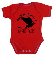 My Other Ride is a Night Fury onesie or shirt  by DoodlesAndDots2