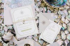 Nautical theme wedding invitations for styled shoot