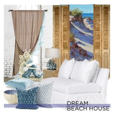 """""""Dream Beach House"""" by nicolevalents ❤ liked on Polyvore featuring interior, interiors, interior design, home, home decor, interior decorating, IPANEMA, Magical Thinking, Fancy That Gift & Décor and Sparrow & Wren"""
