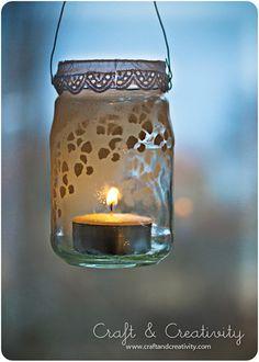 DIY Glass lantern