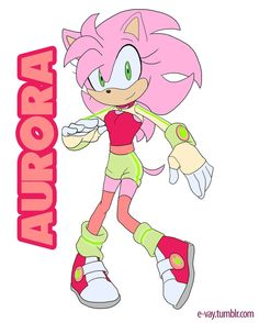 This is sonic and amys daughter Aurora. I kinda wish she looked more like sonic than Amy.