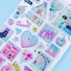 Sparkly Balloons & Hearts Stickers Kawaii Gifts, Cute School Supplies, Sticker Bomb, Kawaii Stationery, Kawaii Shop, Welcome Gifts, Cute Stickers, Balloons, Hearts