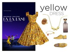 """""""That yellow dress"""" by bubybooh ❤ liked on Polyvore featuring Vince Camuto, Fratelli Rossetti, Cartier and Calvin Klein"""
