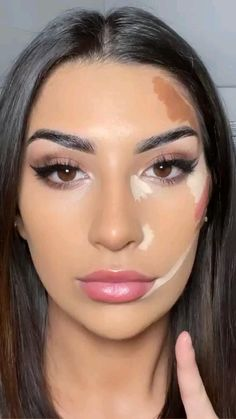 Contour Makeup, Eyebrow Makeup, Eyeshadow Makeup, Makeup Art, Makeup Brushes, Flawless Face Makeup, Makeup Ideas, Oily Skin Makeup, Contour Face