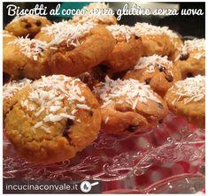 Biscotti al cocco senza burro, senza uova e senza glutine