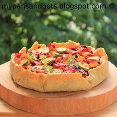 Caramelised Roast Vegetable and feta cheese tart
