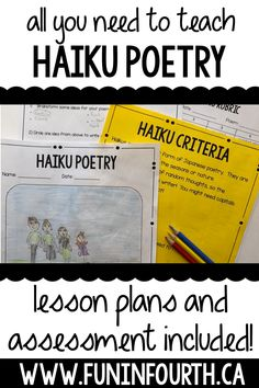 Absolutely everything you need to teach your students about Haiku poetry! Poetry is a great way to have students express their ideas creatively and fluently. #HaikuPoetry