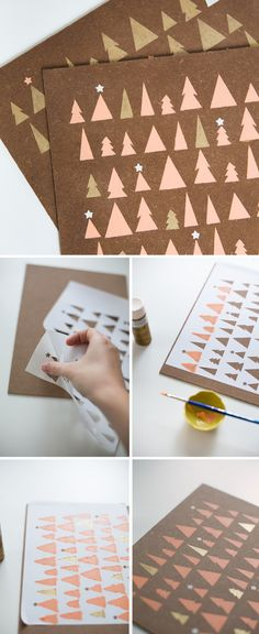Wooden Stenciled Placemats - would be great for xmas cards