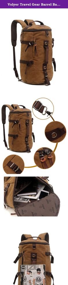 Volyer Travel Gear Barrel Backpack Big Rucksack for Boating, Kayaking, Canoeing and Camping (Coffee). Features: Made of high quality canvas material With sturdy smooth zipper closure With durable, comfortable, detachable shoulder strap Suitable for men and women Specifications: Material: Canvas Notice: There might be 1-2cm deviation due to manual measurement. There might be slight colour deviation due to different displays. Package includes: 1 * canvas bag .