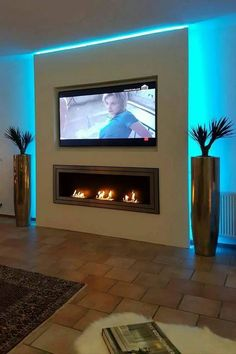 Kamin Wohnzimmer Modern Bildergebnis für tv wand trockenbau How Mothers Can And Should Really Enjoy Living Room Tv, Living Room With Fireplace, Living Room Lighting, Tv On Wall Ideas Living Room, Led Room Lighting, Lighting Ideas, Fireplace Tv Wall, Fireplace Design, Fireplace Ideas