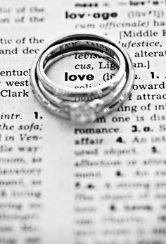 ring shot ...with dictionary! Cute save the date idea