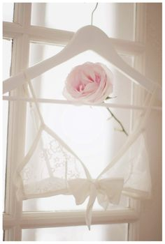 I've seen photos of your wedding dress on the hanger, but never your lingerie