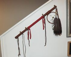 Medicine Wheel Dance Stick Native American by PTurnbullandBishop