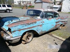 Rusty 1957 Chevrolet Bel Air Convertible Barn Finds