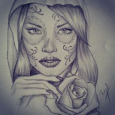 Catrina #art #artfido #artwork #daily_art #draw #drawing #dibujo #tattoo #tattooart #tattoing #sketch #rosestattoo #boceto