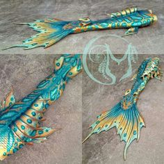 Full Silicone Mermaid Tail by Merbella Studios Inc. This is known as her Basilisk design.