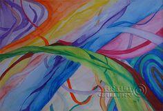 . art. Watercolor A. Kursakova Larisa. Abstract paintings, abstract art