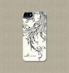 iPhone Case, Elegant Black and White iPhone 4 / 4S, iPhone 5, Galaxy S3 / S4, iPod Touch, iPad Mini, iPad 2 / 3, iPhone 5S, iPhone 5C Case