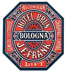 #design #typography Hotel Brun label