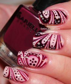 Water marble nail art using Barielle
