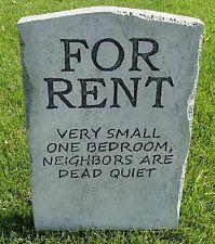 Halloween 'For Rent' tombstone prop decoration 24 #halloweenprops