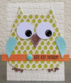 Crafting ideas from Sizzix UK: Owl greetings