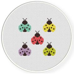 Charts Club Members Only: Color Bugs Cross Stitch Pattern