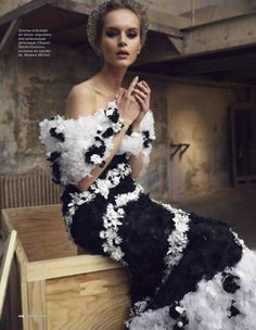 Chanel Haute Couture. Elle Russia, April 2013