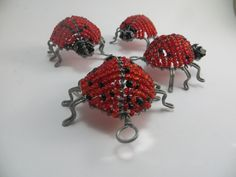 African Beaded art creation made with glass seed beads and wire...