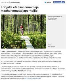 MLL:n Uudenmaan piiri etsii uusia perhekummeja Uudellamaalla. Juttu Länsi-Uusimaassa 8.9.2015.