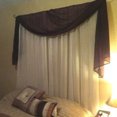My version of the curtain headboard - in my decoration ideas board