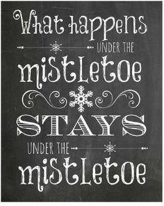 free holiday printable #mistletoe Love this