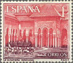 sellos temáticos de España Granada, Wish Foundation, Postage Stamps, Spain, Lettering, Retro, World, Cities, Nostalgia