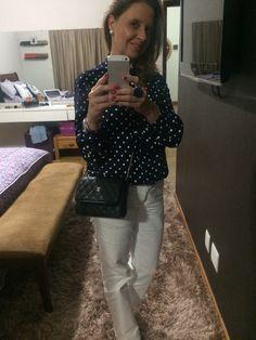 Minha blusa de Poá me dá muitas opções de looks !